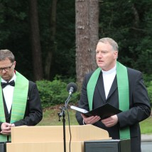Heiko Schulz and Marcus Christ, Chaplains, bless the Stone