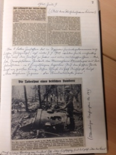 Original Newspaper cuttings about the crash